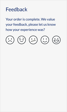 Example of Localz feedback form for energy and water appointments