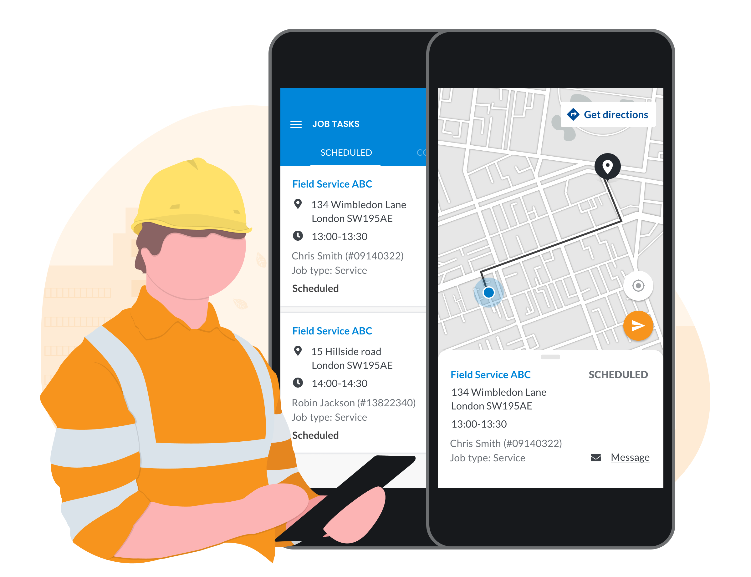 Manage My Day technician app for mobile workers