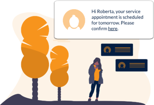 Automated appointment reminders for tenants