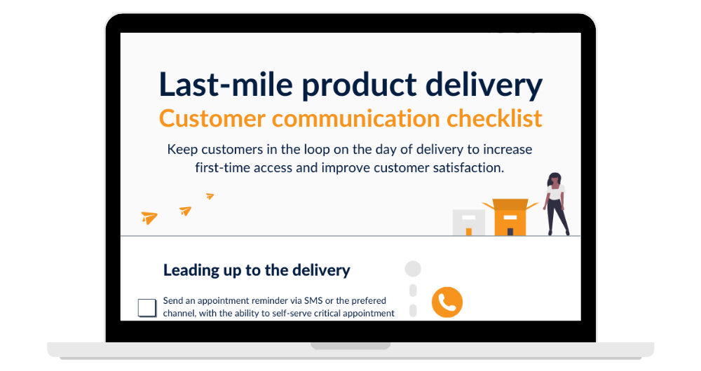 Last-mile product delivery checklist