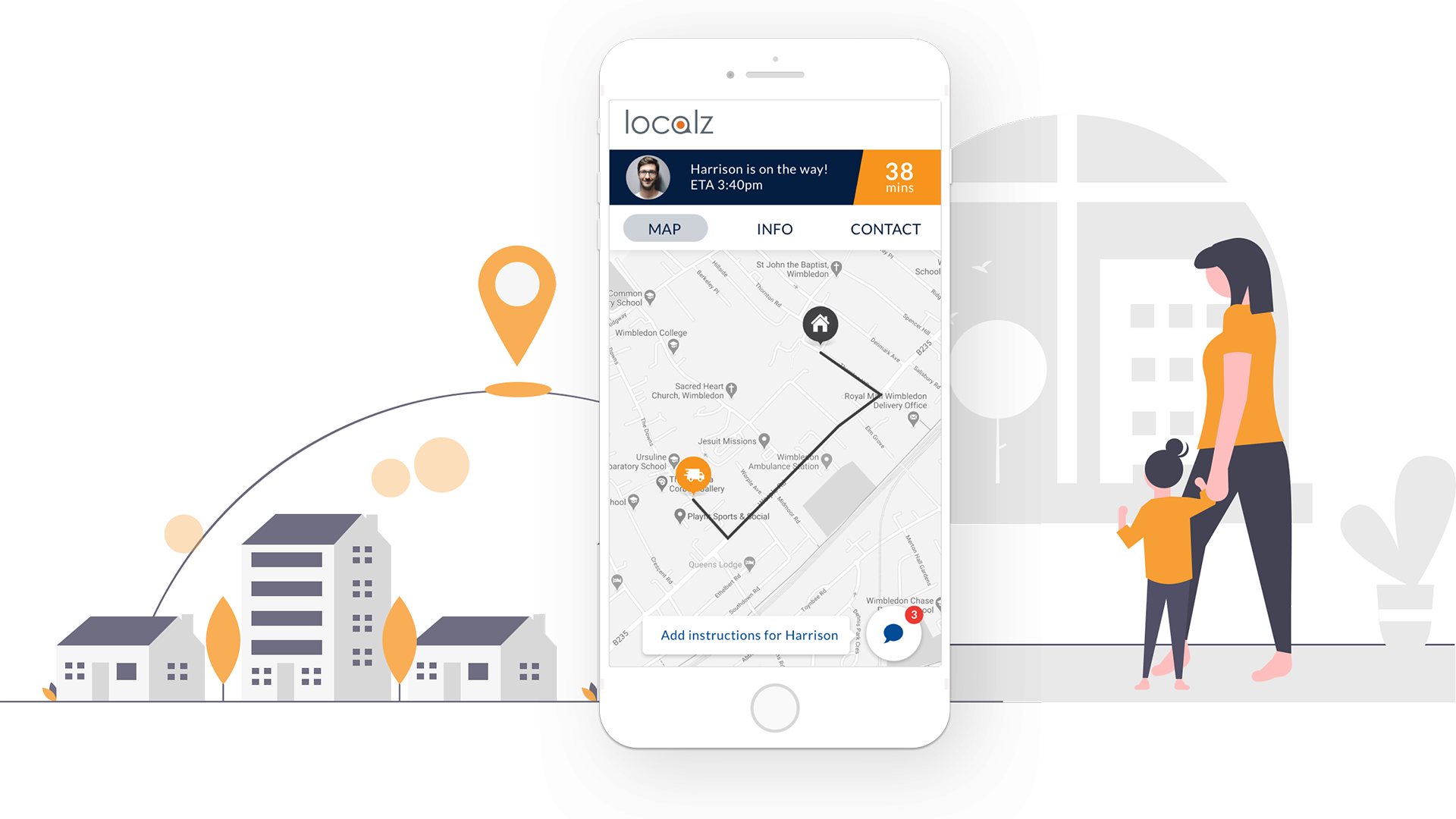 Real time map and traffic updates for housing operatives