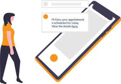 Automated appointment notification for repair and maintenance