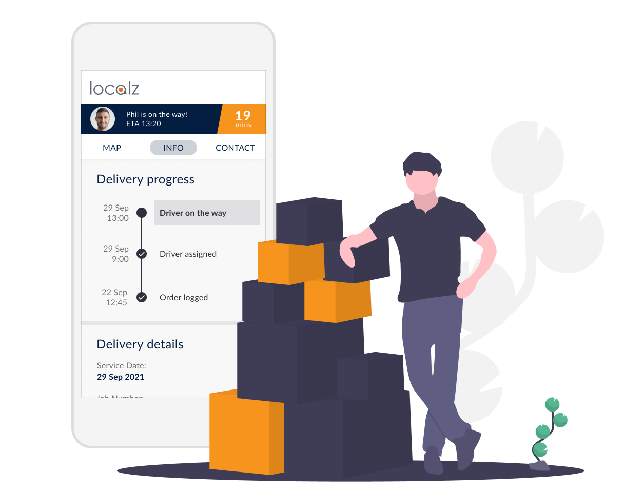 Track My Delivery last mile delivery tracking customer portal