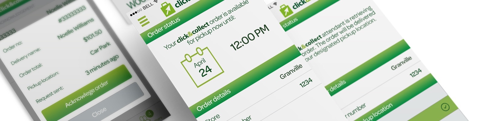 Woolworths order collection customer and attendant app