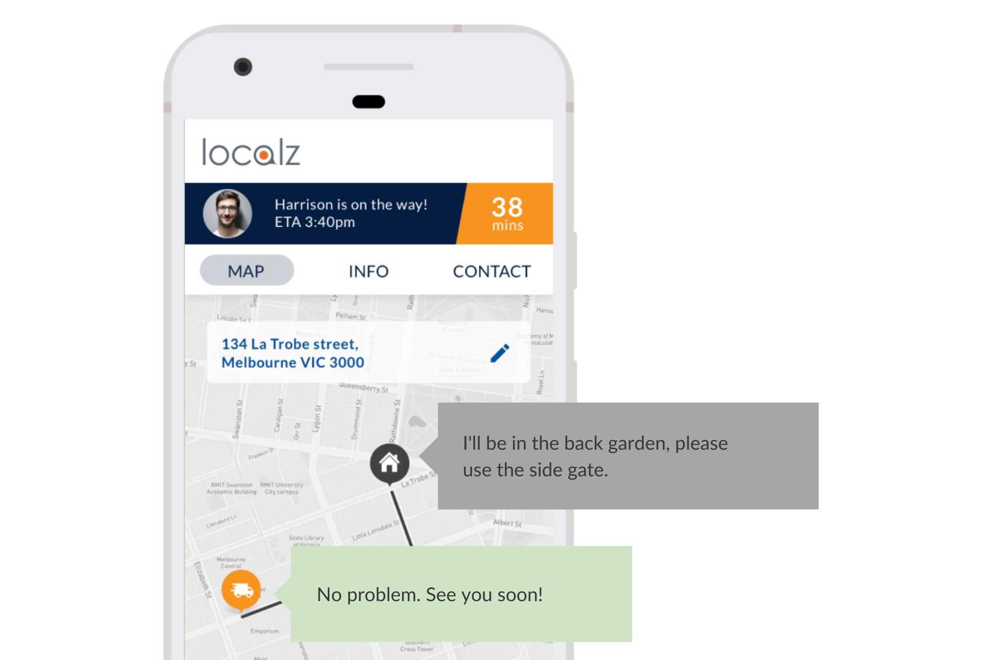 Localz Chat My Way customer engagement module
