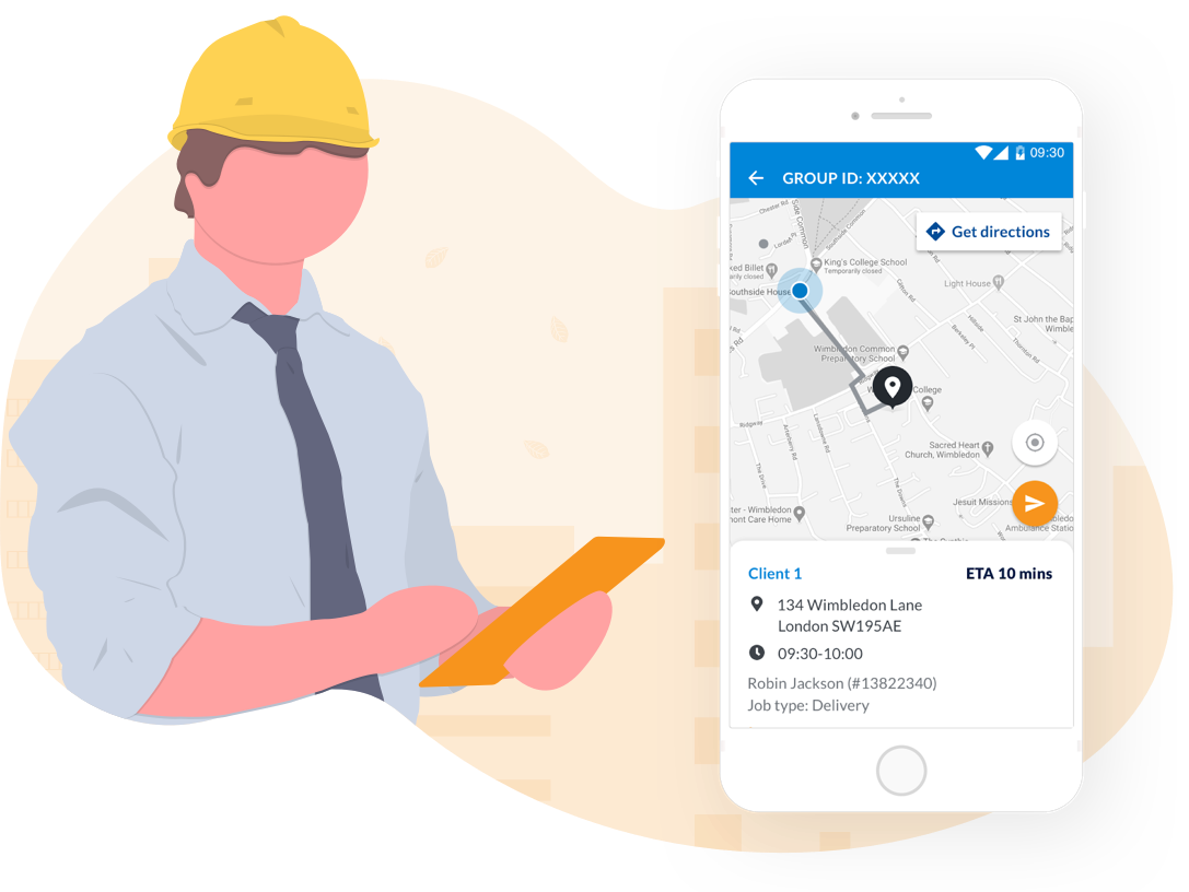 Manage My Day mobile workforce field technician app