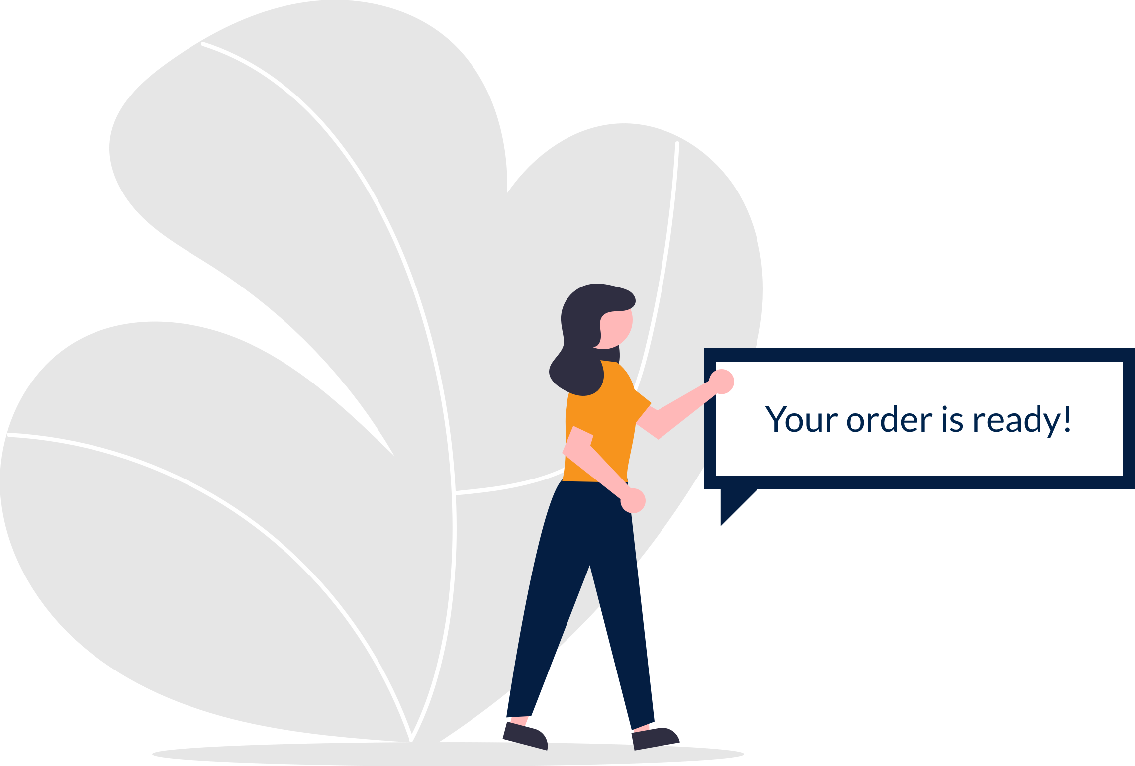 Retail collection real-time order alerts