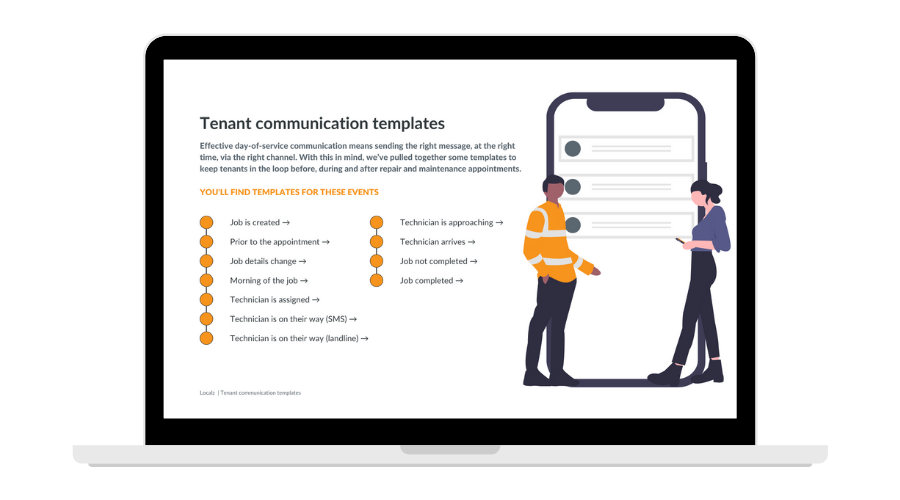 Tenant communication templates for repair and maintenance