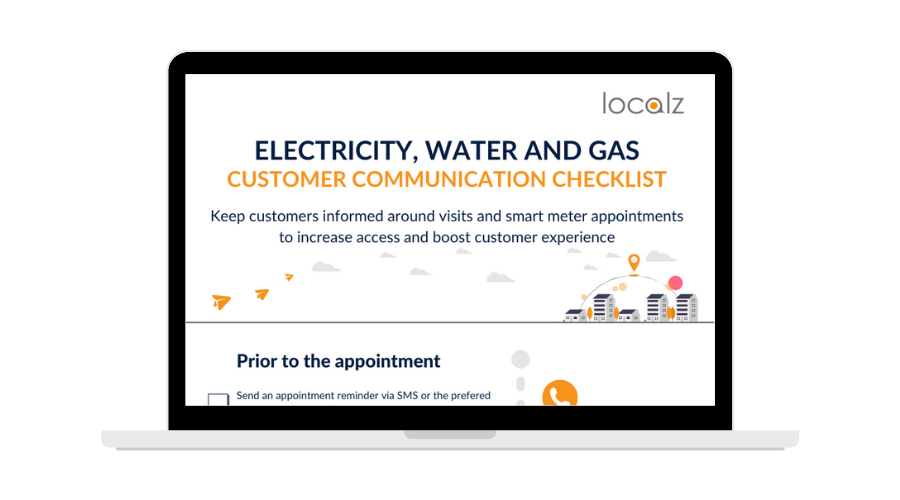 Utility customer communication checklist for repair and smart meter appointments